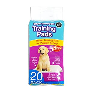 20 Pack of Super Absorbent Premium Puppy Dog Training Pads 60 x 45cm by World of Pets