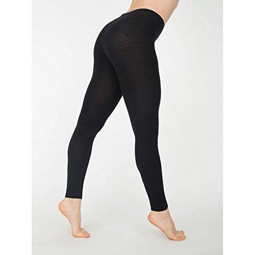 american-apparel-womens-ladies-cotton-spandex-jersey-leggings-l-black