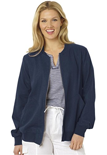 Womens Plus Size Linen Bomber Jacket