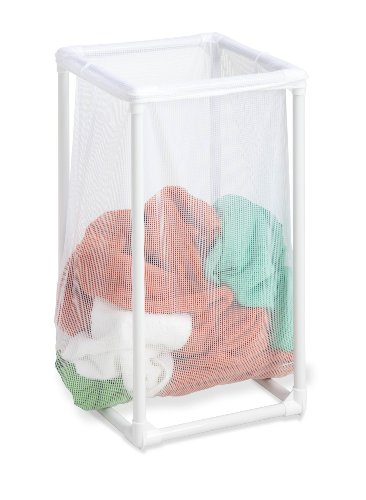Honey-Can-Do HMP-01627 1-Bag Mesh Laundry Hamper