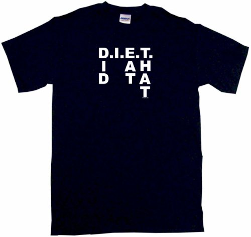 D.I.E.T. Diet, did I eat that Men's Tee Shirt XL-Black