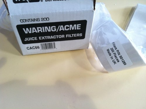 Acme CAC66 Juice Extractor 200 Replacement Paper Filters (Collects Juices compare prices)