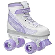 Roller Derby Youth Girls Fire Star Quad Roller Skates - White/Lavendar - 1967