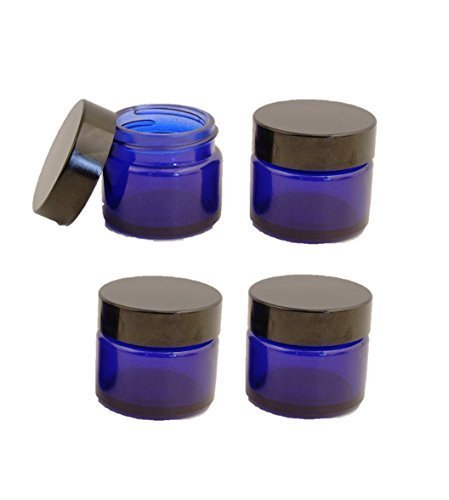 4er-packung-x-15ml-leer-blau-glasdose-mit-schwarzem-deckel-fur-aromatherapie-kosmetik-lippenbalsam-u