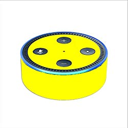 Skin Decal Vinyl Wrap for Amazon Echo Dot 2 (2nd generation) / Bright Yellow