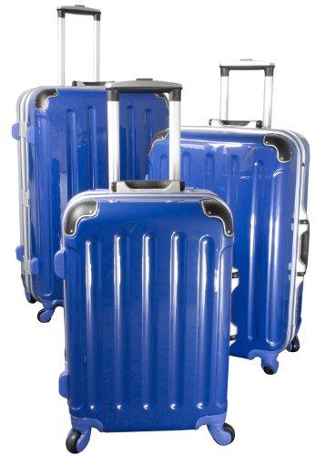 Polycarbonat-ABS-Kofferset Dublin 3tlg blau