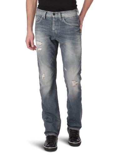 G-Star Mens Straight Jeans Attacc Straight, dark-denim, size. 31/34