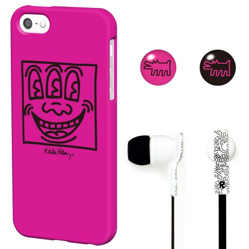 Keith Haring Official Licensed Bezel Case With Earphone For Iphone 5/5S Face