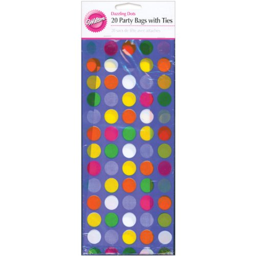"Party Bags 4""""X9-1/2"""" 20/Pkg-Dazzling Dots"