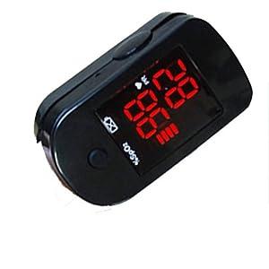 Doigt Oxymètre SPO2 de Pouls - Plage de mesure: 30 bpm - 250 bpm. Selon la directive du conseil 93/42/CEE - Cordon + Etui