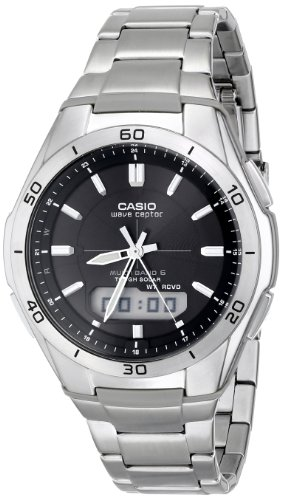 Casio Men's WVA-M640D-1ACR Wave Ceptor Analog-Digital Stainless Steel Bracelet Watch