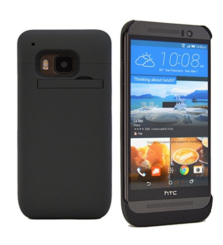HTC One M9 Battery Case, Phone Charger Case ® 3200 mAH External Rechargeable Protective HTC One M9 Charger Case / HTC One M9 Charging Case Extended Backup Battery Pack / HTC One M9 Power Case / HTC One M9 USB Juice Bank / HTC One M9 Battery Charger