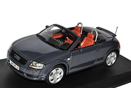 Audi TT Cabrio Roadster 8N Grau 1998-2006 1/18 Maisto Modell Auto mit individiuellem Wunschkennzeichen