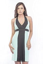 Pinwheel Women's Rayon Dress (Pwss15D048_Green_Small)