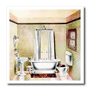 3drose picture of painting of a victorian bathroom iron for Bathroom paintings amazon