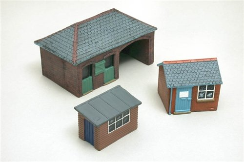 Scenix Model Railway Stable, Hut and Shed - OO Gauge