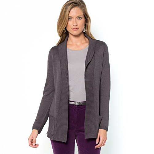 La Redoute Womens Wool Shawl Collar Cardigan With 2 Patch Pockets