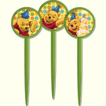 Hallmark Pooh's First Birthday Party Picks - 12 ct - 1