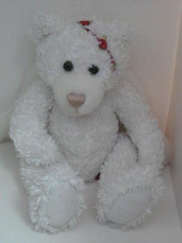 First Main White Red Rose Valentine Angel Bear