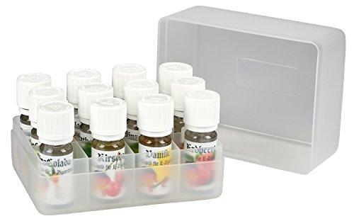 12 x 10ml unserer besten Premium E-Liquids inklusive Nadelflasche in der 12er Geschenk Box für E-Zigaretten u. Shisha