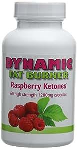 Dynamic Fat Burner 1,200 mg Raspberry Ketones Capsules - Pack of 60 Capsules