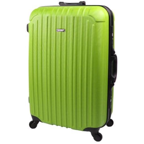 スーツケース・大型と中型の中間サイズの ジャスト型 【ブラックフレーム TSAロック搭載 バベル2013 Jサイズ】【SUCCESS サクセス】 (ジャスト型72㎝, ライムグリーン)