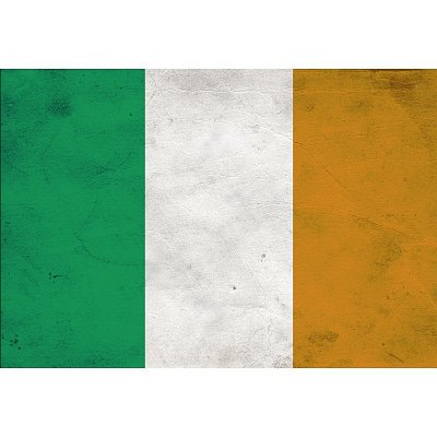 Ireland Flag Distressed Art Print Poster - 13x19
