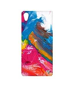 Vogueshell Multi Colour Pattern Printed Symmetry PRO Series Hard Back Case for Sony Xperia M4 Aqua