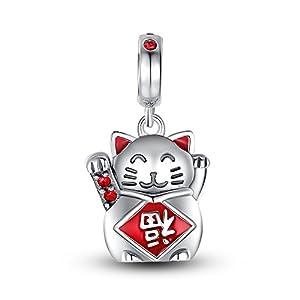 glamulet 925 sterling silver lucky cat charm swarovski