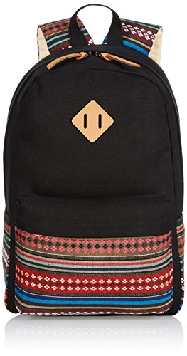 Fashion Plaza EXTRA big! Ladies Vintage Canvas Backpack Retro Vintage backpack for outdoor camping picnic Außflug Sports University backpack schoolbag C5095 (black)