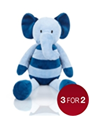 Stripy Elephant Soft Toy