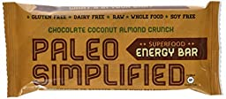 Paleo Energy Bar, Paleo Simplified, Chocolate Coconut Almond