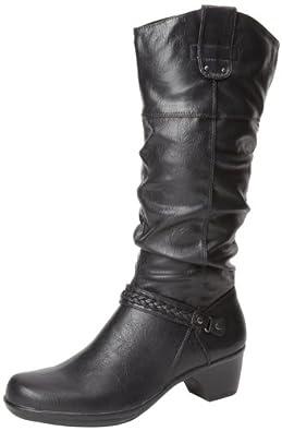 Easy Street Women's Joya Western Boot,Black,5 M US