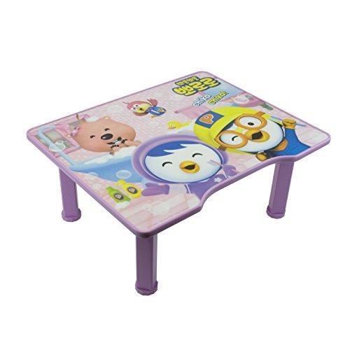 Pororo Kids Activity Table With Folding Legs Purple