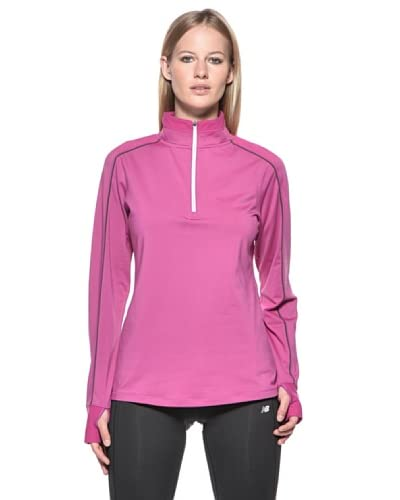 New Balance Maglia Running Megaheat Competitor 41306 Zip [Viola]