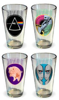 Pink Floyd Collector's Series Pint Glass Set (Set of 4 Pub Glasses)