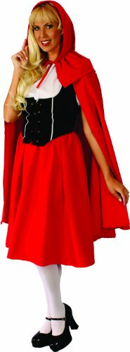 Alexanders Costumes Deluxe Red Riding Hood, Red, Medium