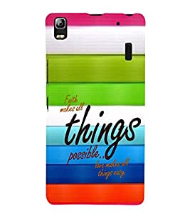 Ebby Premium Printed Back Case Cover With Full protection For Lenovo K3 Note (Designer Case)