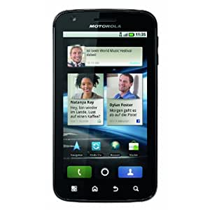 Motorola Atrix 4G Smartphone (10,1 cm (4 Zoll) LED Display, Touchscreen, Android 2.2, 5 Megapixel Kamera) schwarz