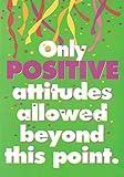 """Trend Enterprises """"Only Positive Attitudes"""" Poster"""