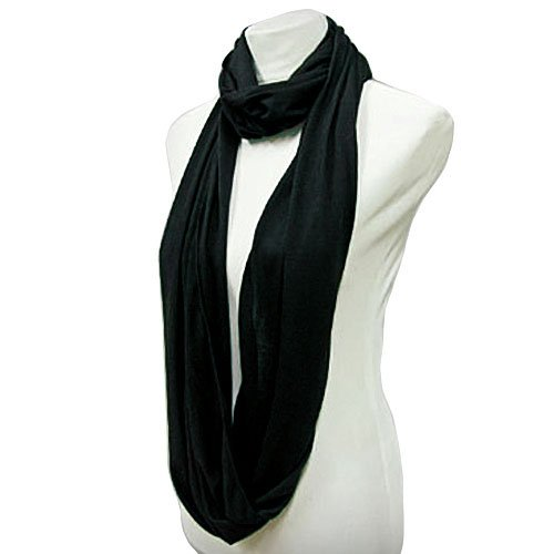 black lightweight circle ring infinity scarf cheap best