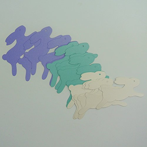 Easter Table Confetti 3 Colors Pearl Purple Turquoise Card Stock Cut Out 105 Lb Stock