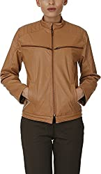 Baba Rancho Women's Regular Fit Jacket (Lj 00216_S, Cappuccino, S)