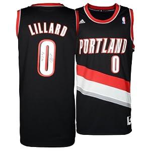 Damian Lillard Portland Trail Blazers Autographed adidas Swingman Black Jersey with... by Sports Memorabilia