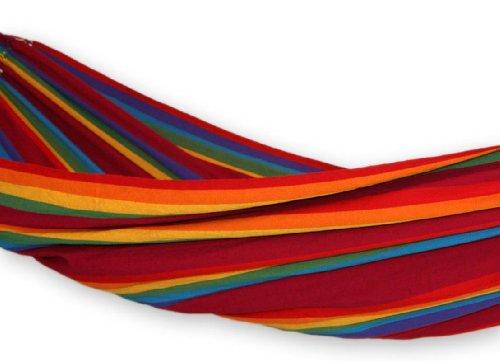 Cotton hammock, 'Iracema Rainbow' (double)