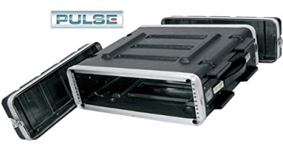 Pro Audio DJ Stackable ABS Rack Mount Flight Case Stackable Electronic Equipment Case- Two Rack Spaces 2RU