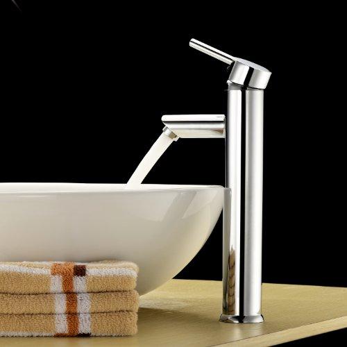 LightInTheBox Single Handle Contemporary Bathroom Lavatory Vanity Vessel Sink Faucet Chrome Tall Spout Deck Mount Bathtub Faucet MixerPlumbing Fixtures Single Hole Faucet (Modern Faucet Bath compare prices)