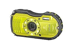 Ricoh WG-4 EU wasserdichte Digitalkamera (16 Megapixel, Full HD, 7,2-fach dig. Zoom, 7,6 cm (3 Zoll) LCD-Display, 70MB interne Speicher, HDMI, USB 2.0) Lime Yellow