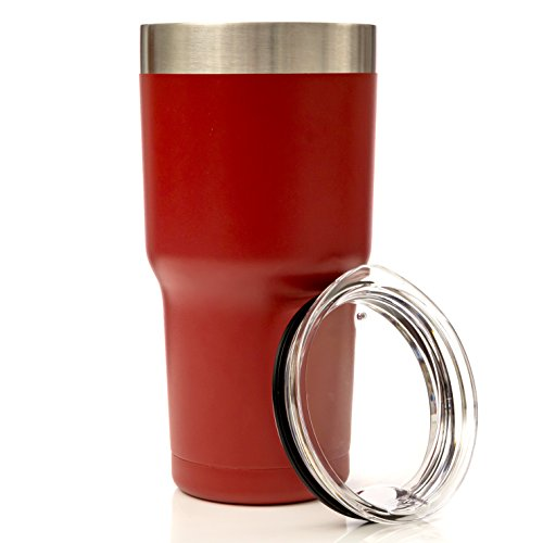 THERMONATOR Double Wall Insulated Stainless Steel Travel Tumbler- Red (Coffee Cup Set Red compare prices)
