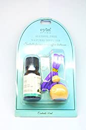Eyun F06 Essential Oil Reed Diffuser. The Cute and Mini Design with the Wooden Ball Cap.10ML, Lavender Scent, Car Collection for Hangging.